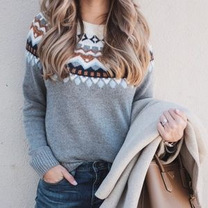 J. Crew | Metallic Fair Isle Sweater